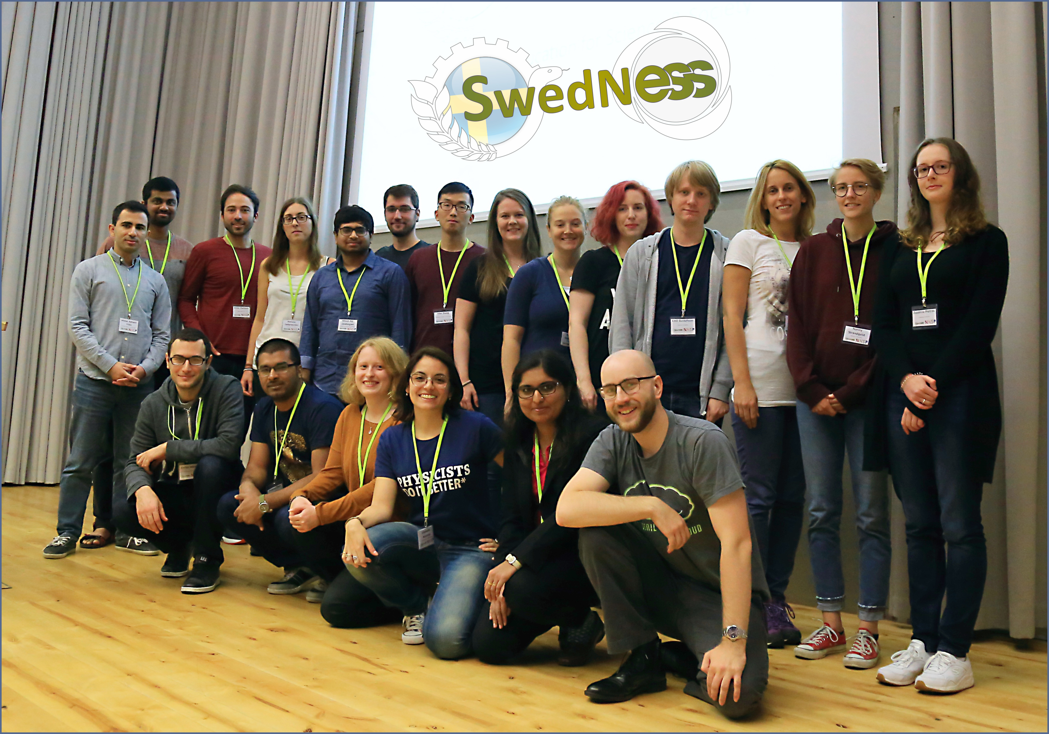 A group photo of the PhD students within SwedNess.